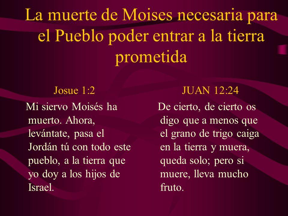 La muerte de Moises necesaria para el Pueblo poder entrar a la tierra prometida