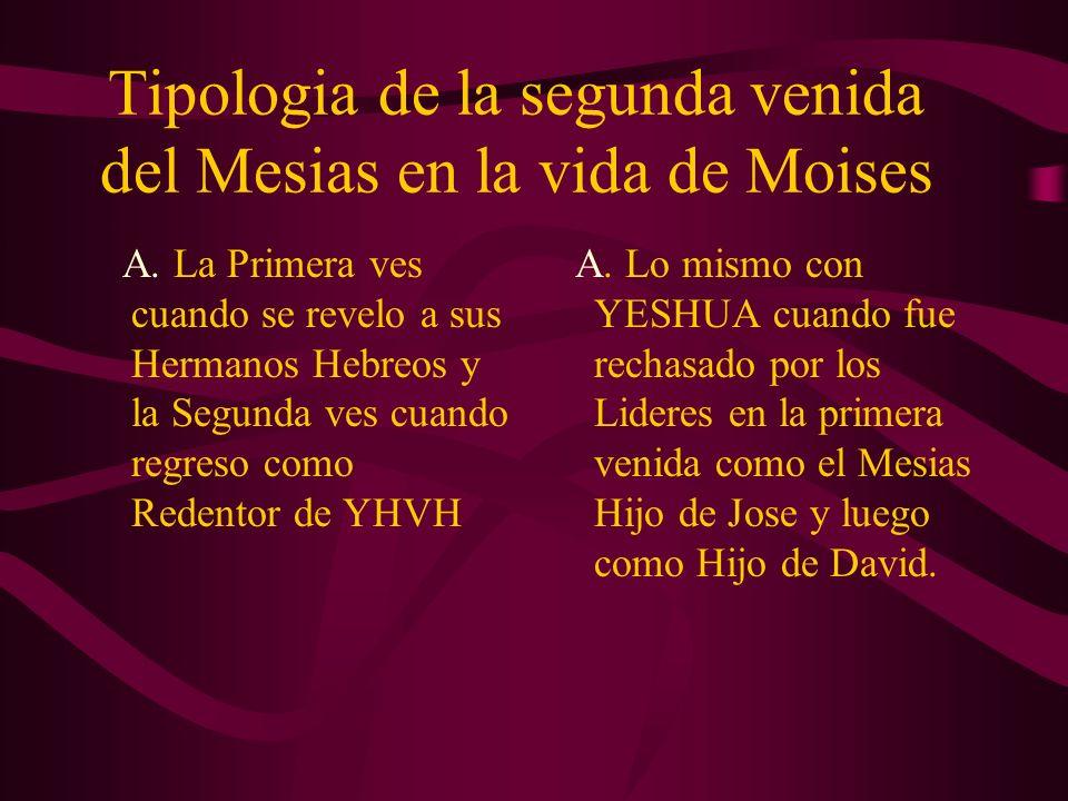 Tipologia de la segunda venida del Mesias en la vida de Moises