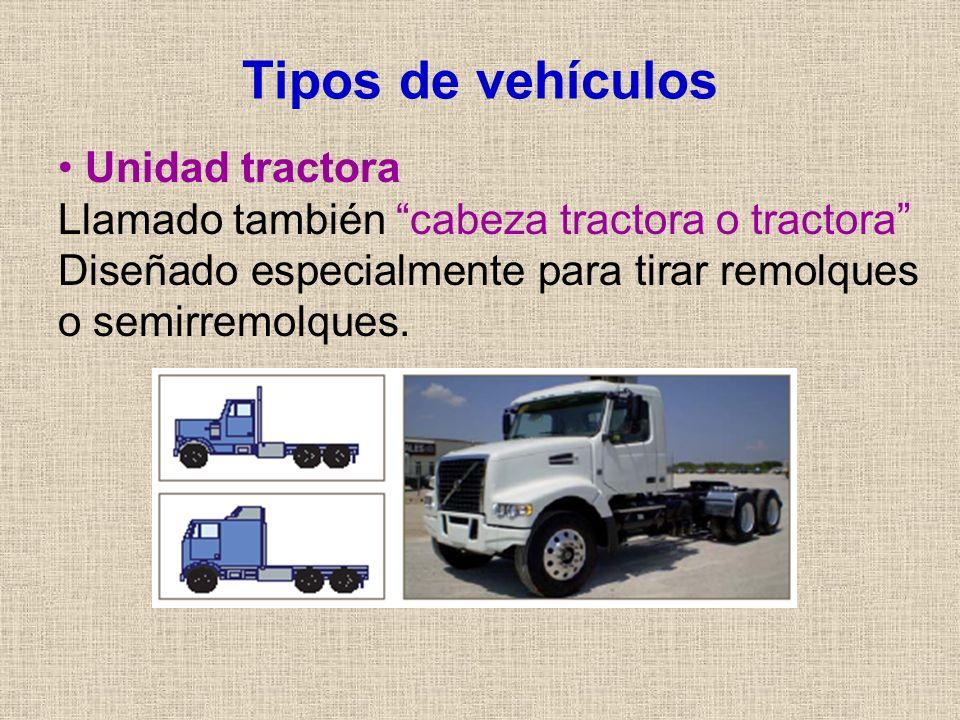 Tipos de vehículos Unidad tractora