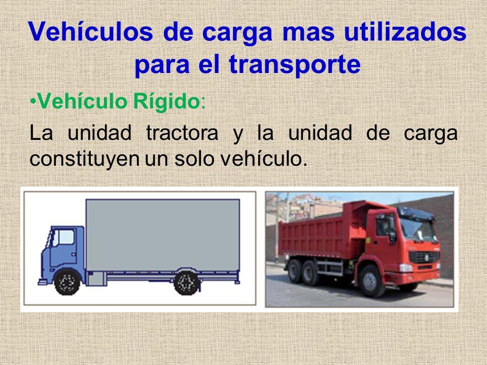 Vehículos de carga mas utilizados para el transporte