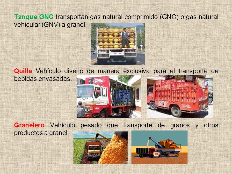 Tanque GNC transportan gas natural comprimido (GNC) o gas natural vehicular (GNV) a granel.