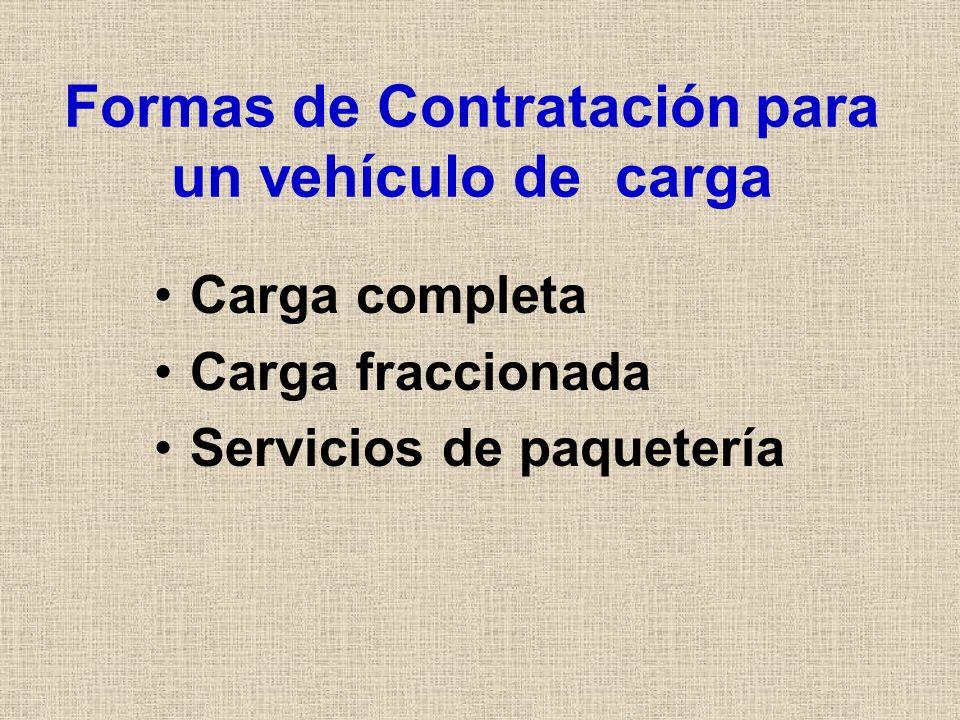 Formas de Contratación para un vehículo de carga