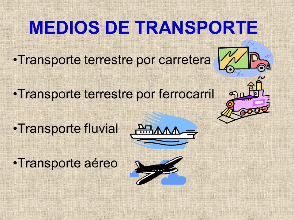 MEDIOS DE TRANSPORTE Transporte terrestre por carretera