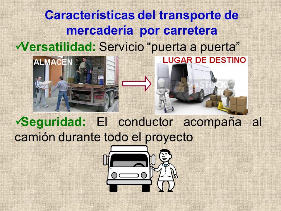 Características del transporte de mercadería por carretera