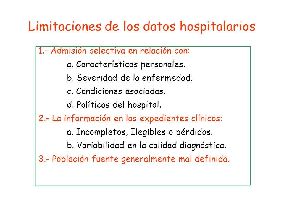 Limitaciones de los datos hospitalarios