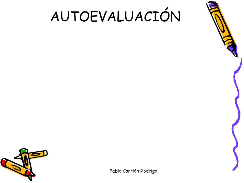 AUTOEVALUACIÓN Pablo Carrión Rodrigo