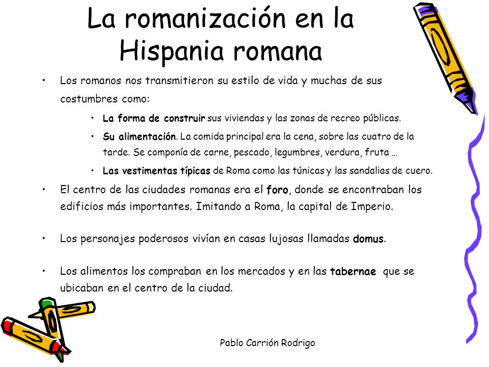 La romanización en la Hispania romana