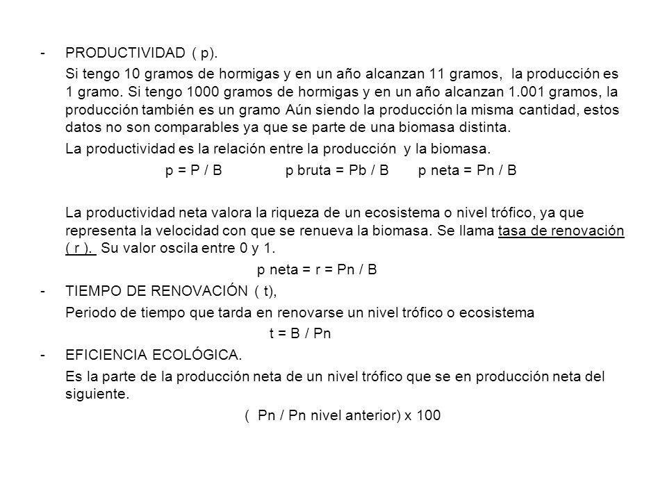 PRODUCTIVIDAD ( p).