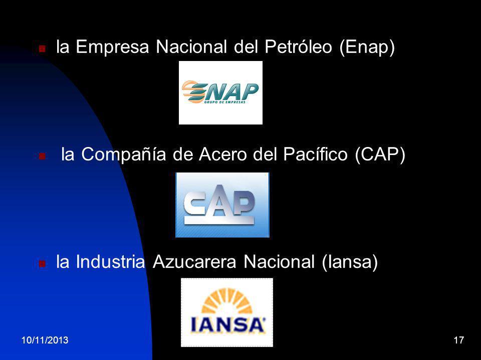 la Empresa Nacional del Petróleo (Enap)