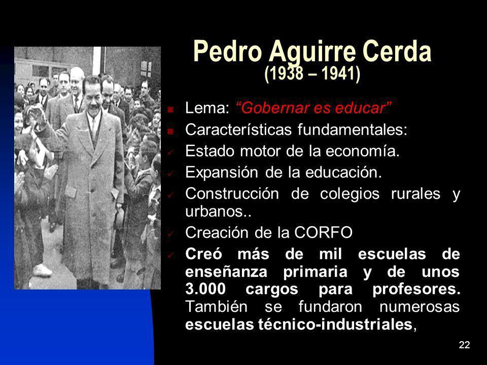 Pedro Aguirre Cerda (1938 – 1941)