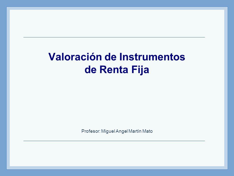 Valoración de Instrumentos de Renta Fija
