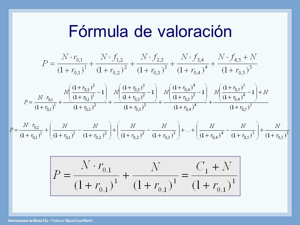 Fórmula de valoración
