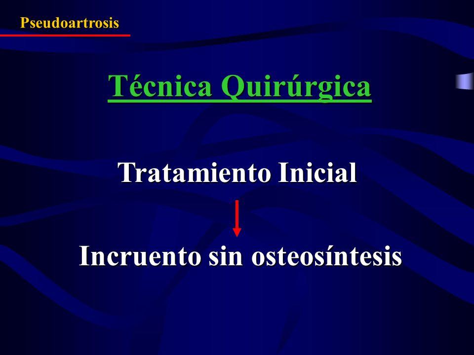 Incruento sin osteosíntesis