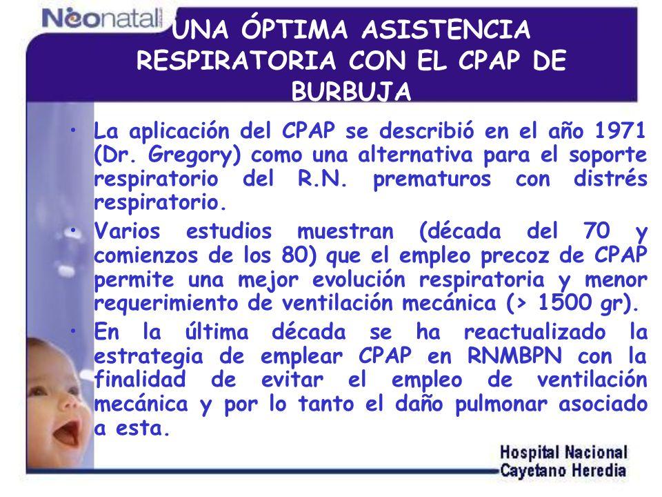 UNA ÓPTIMA ASISTENCIA RESPIRATORIA CON EL CPAP DE BURBUJA