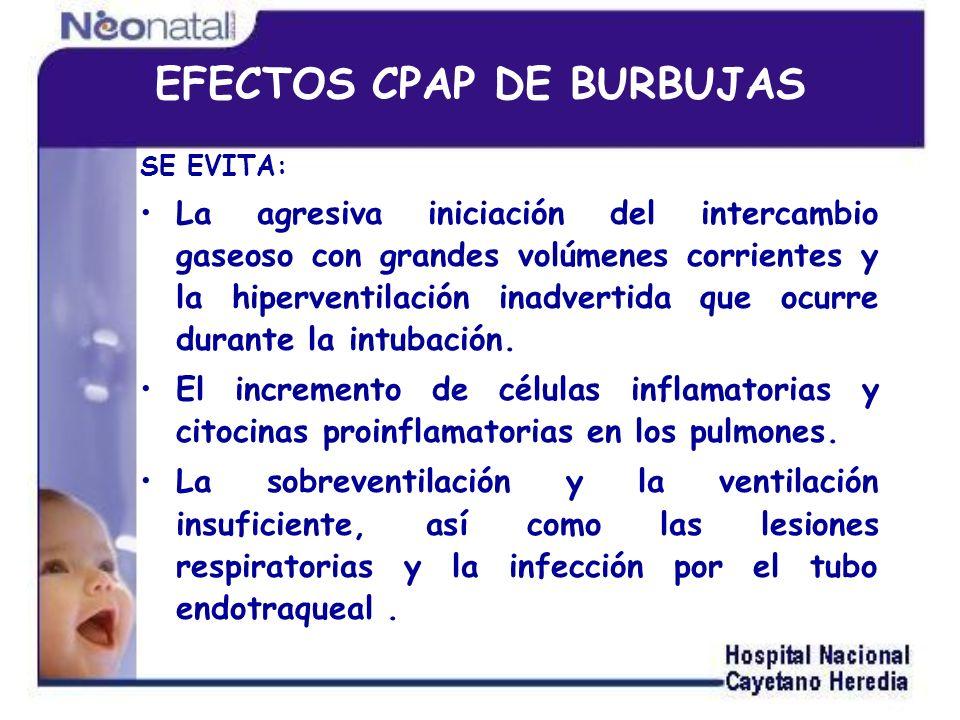 EFECTOS CPAP DE BURBUJAS