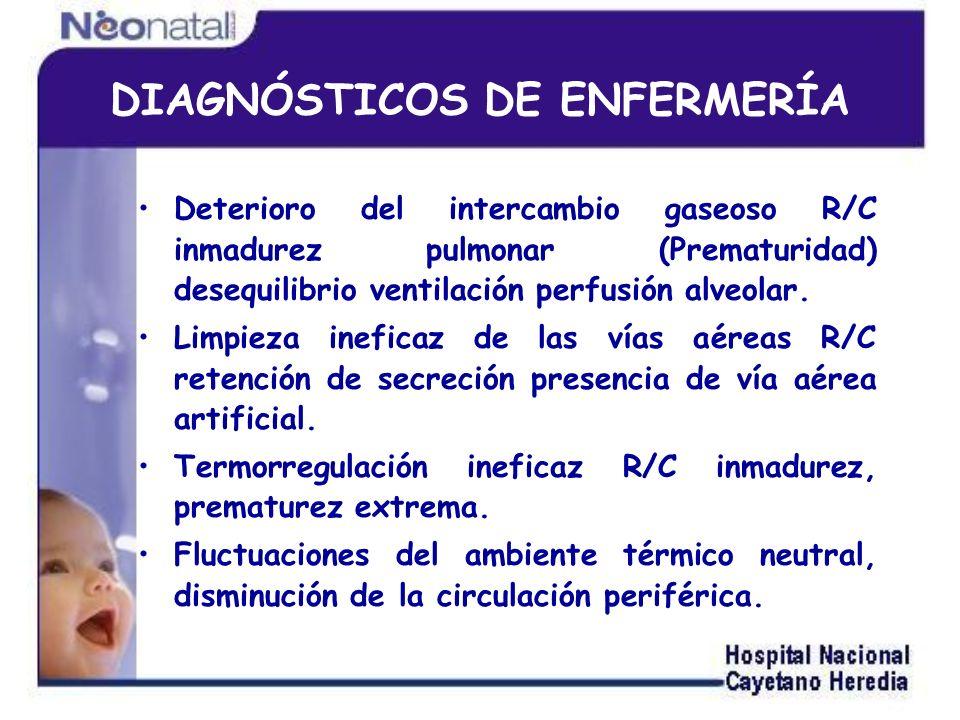 DIAGNÓSTICOS DE ENFERMERÍA