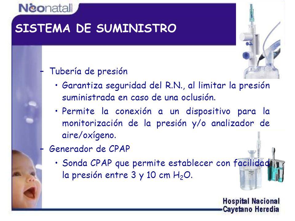 SISTEMA DE SUMINISTRO Tubería de presión