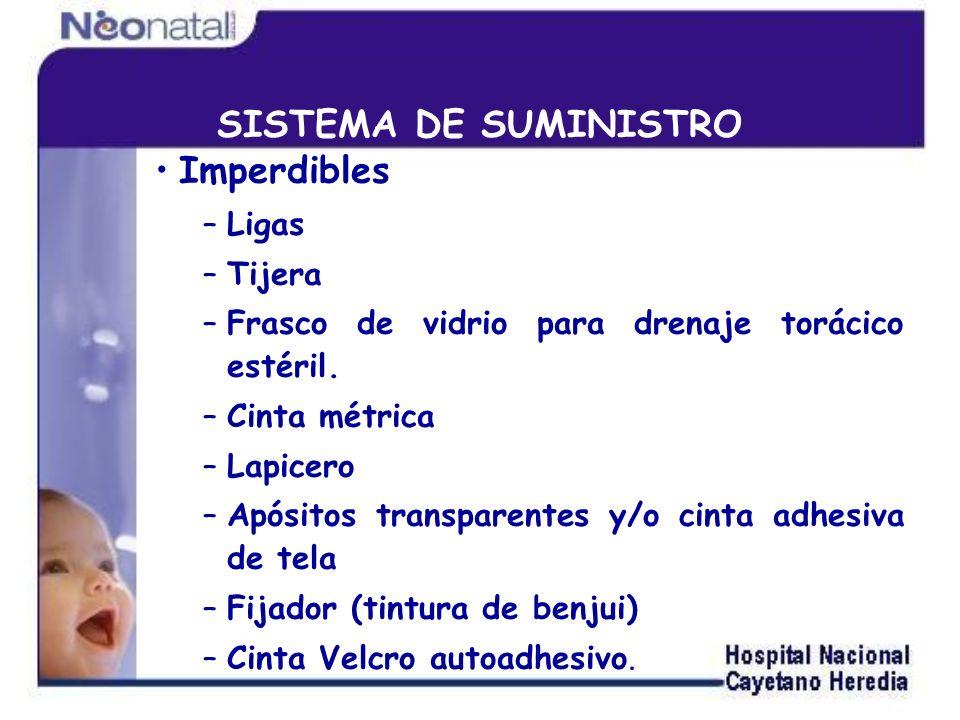 SISTEMA DE SUMINISTRO Imperdibles Ligas Tijera