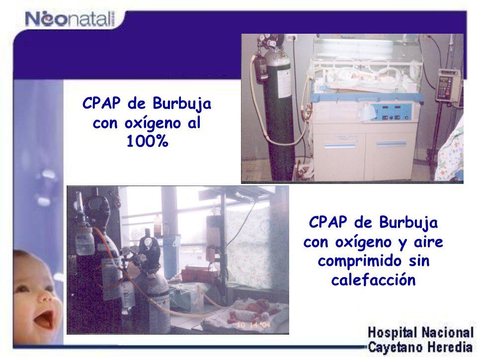 CPAP de Burbuja con oxígeno al 100%