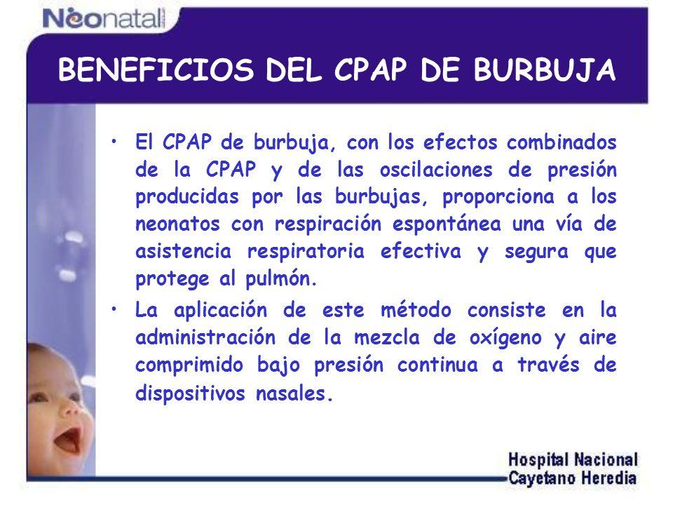 BENEFICIOS DEL CPAP DE BURBUJA