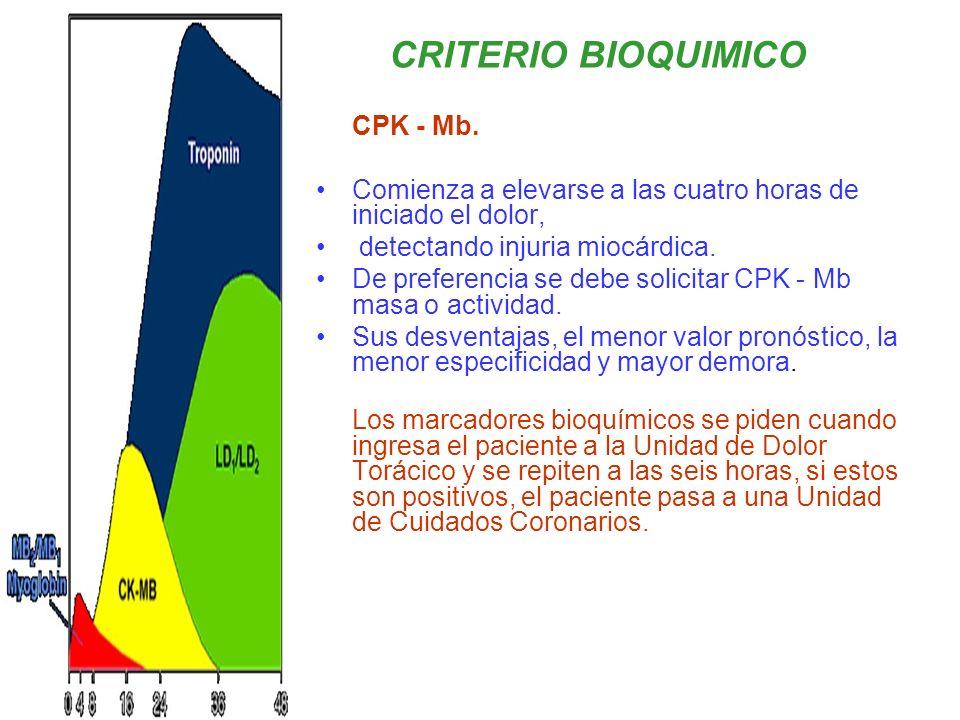 CRITERIO BIOQUIMICO CPK - Mb.