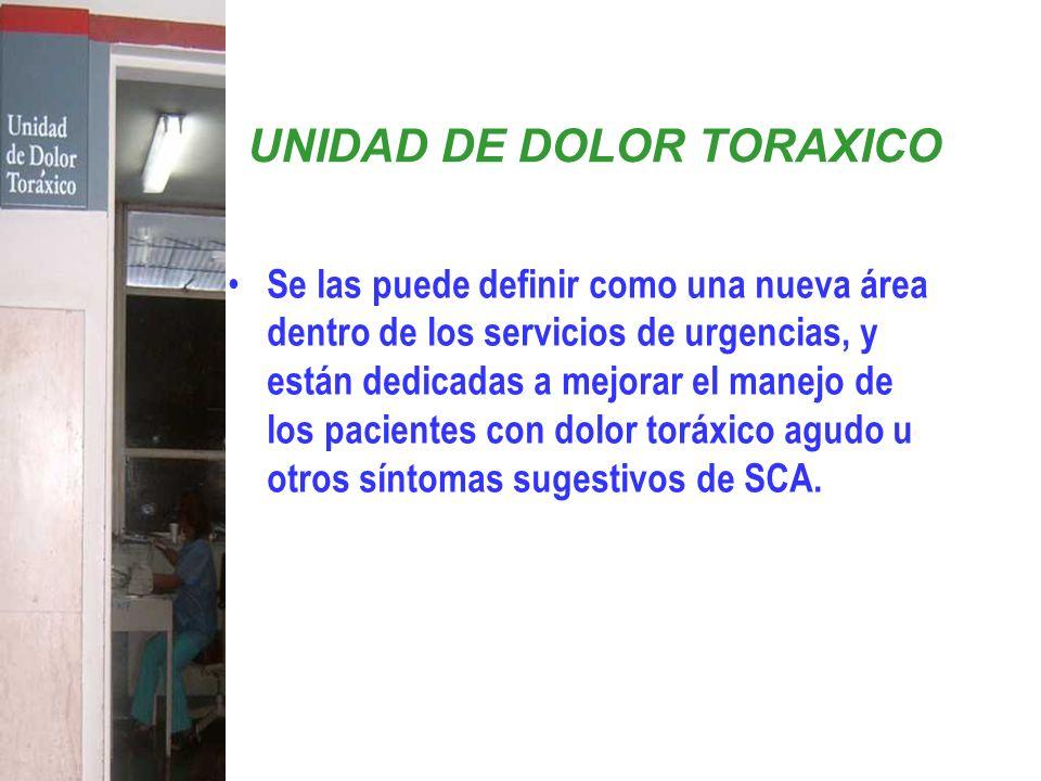 UNIDAD DE DOLOR TORAXICO