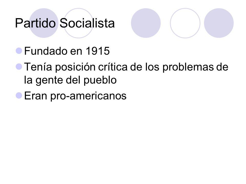 Partido Socialista Fundado en 1915