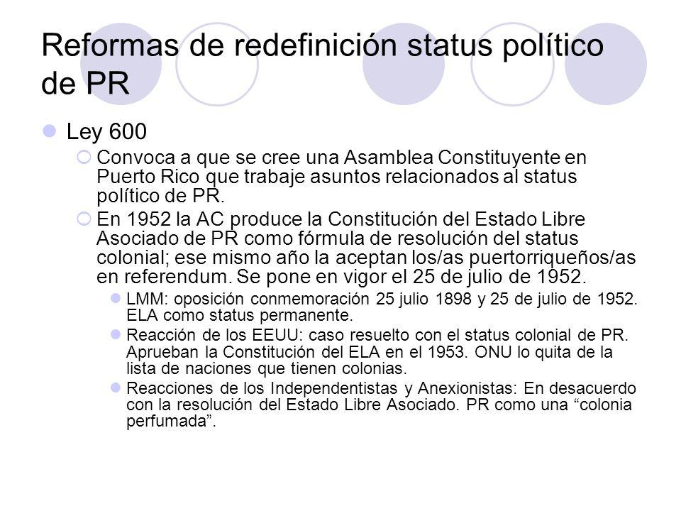 Reformas de redefinición status político de PR