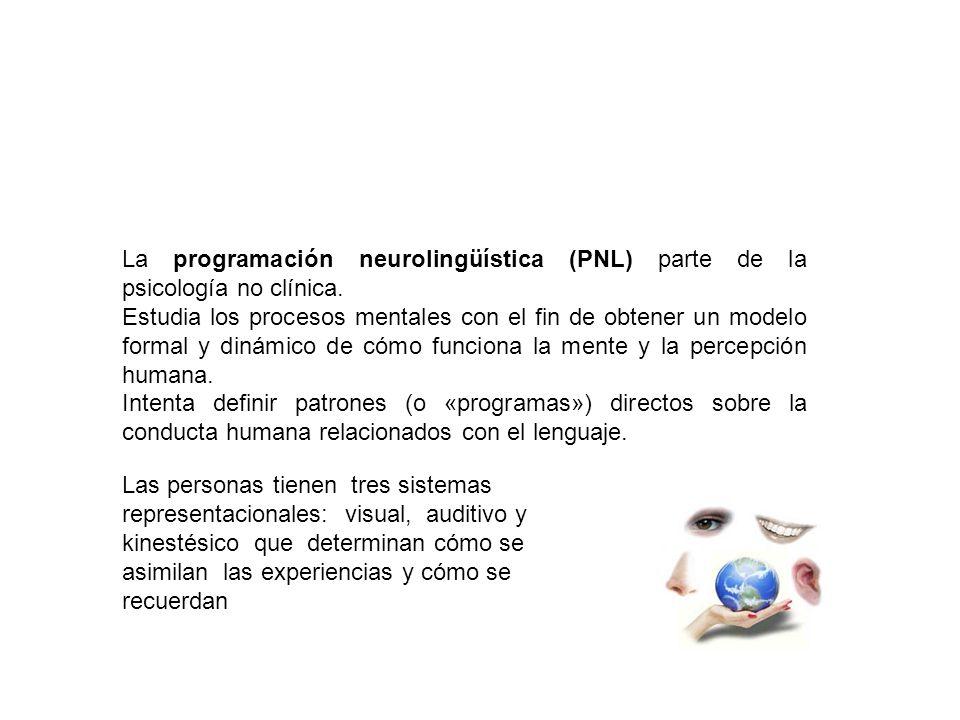 La programación neurolingüística (PNL) parte de la psicología no clínica.