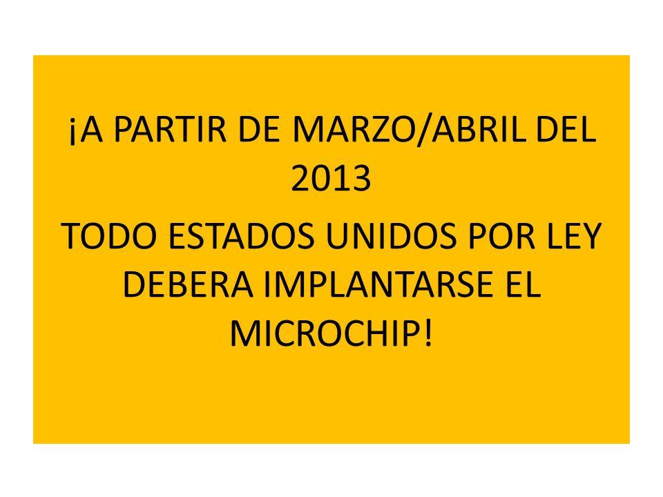 ¡A PARTIR DE MARZO/ABRIL DEL 2013