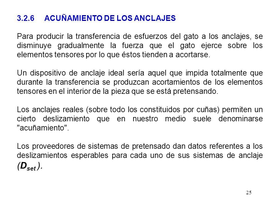 3.2.6 ACUÑAMIENTO DE LOS ANCLAJES