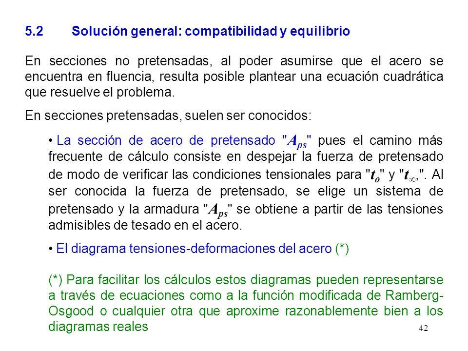 5.2 Solución general: compatibilidad y equilibrio