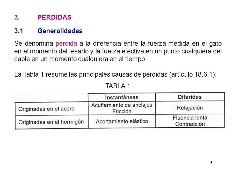 3. PERDIDAS 3.1 Generalidades.