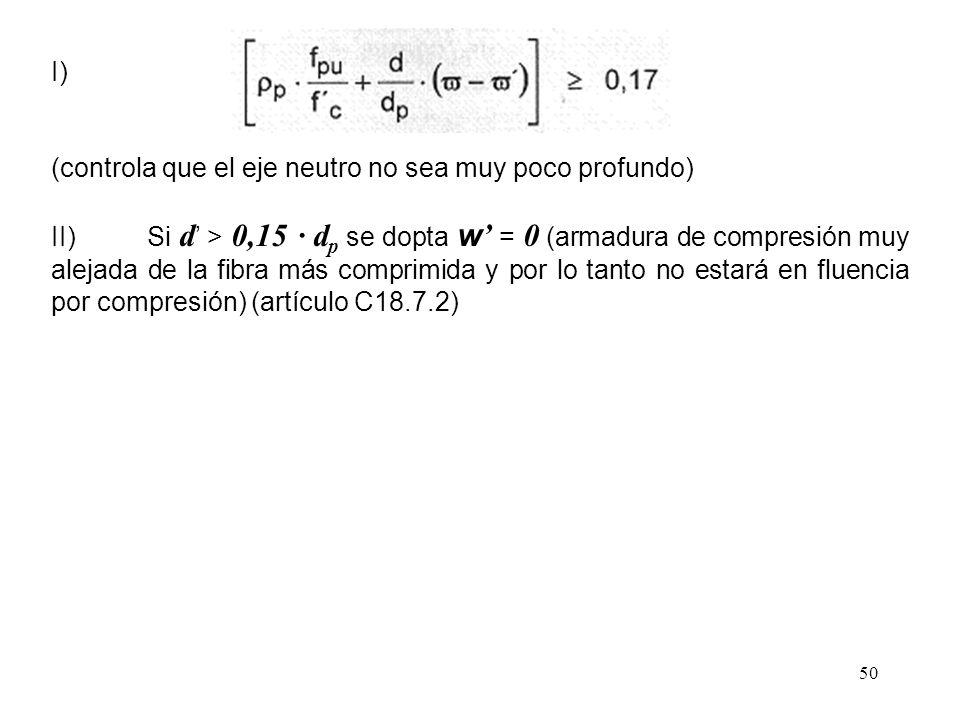I) (controla que el eje neutro no sea muy poco profundo)