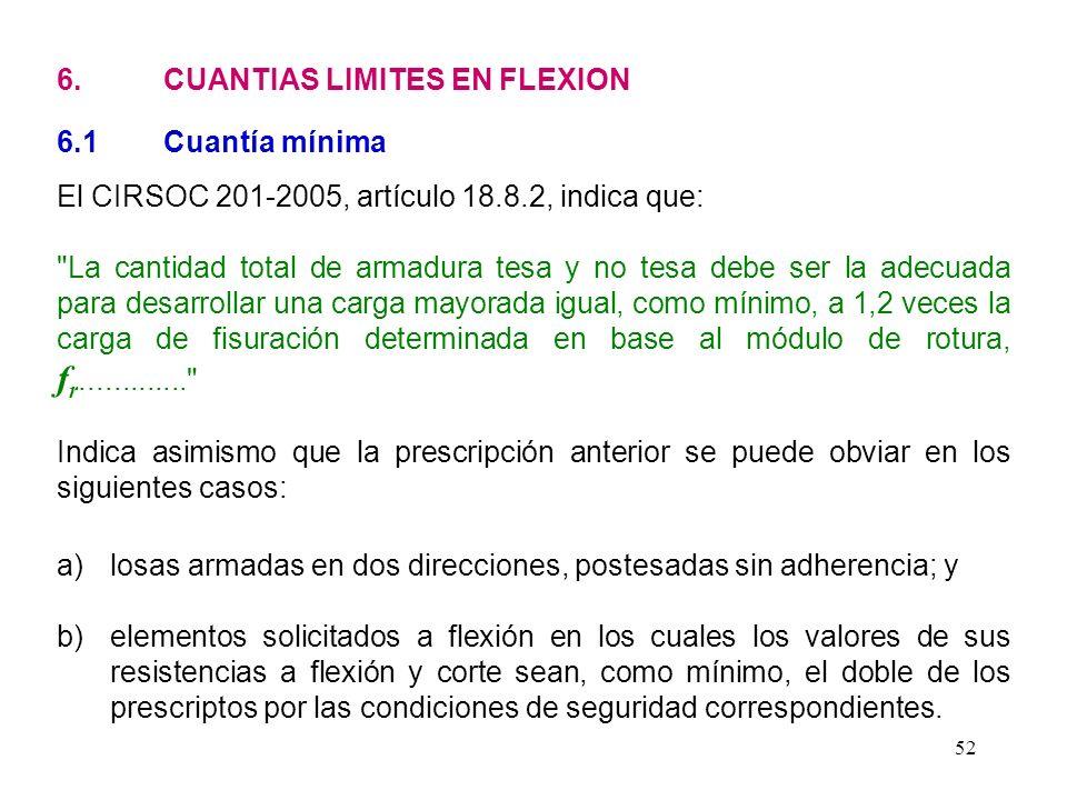 6. CUANTIAS LIMITES EN FLEXION