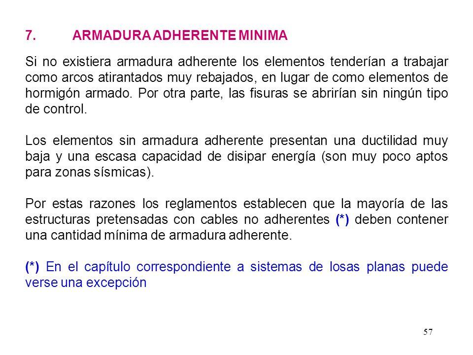 7. ARMADURA ADHERENTE MINIMA