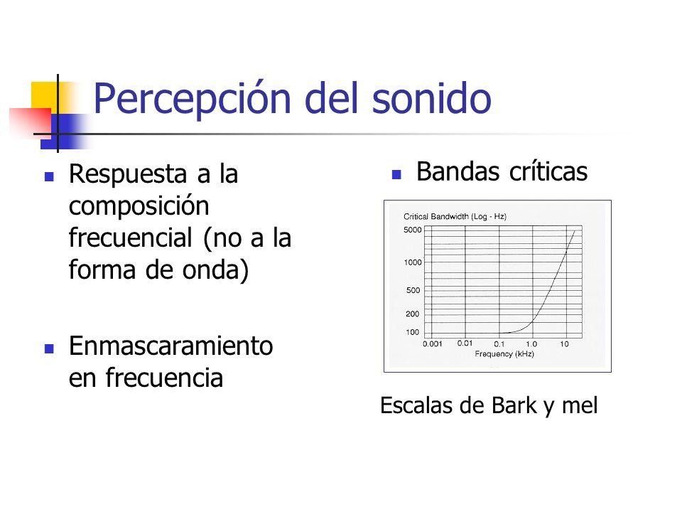 Percepción del sonido Bandas críticas