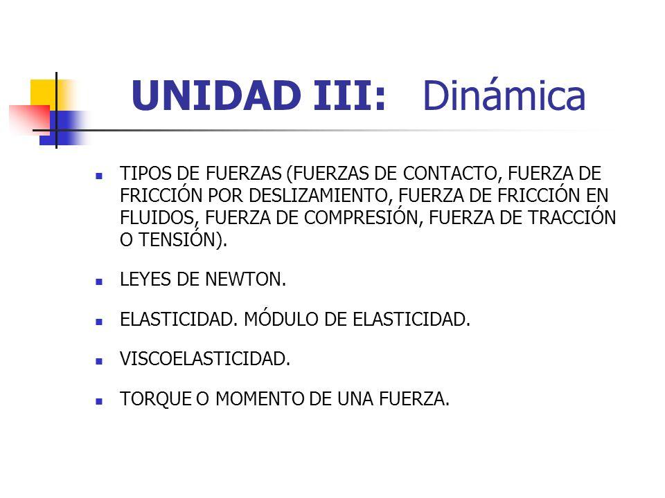 UNIDAD III: Dinámica