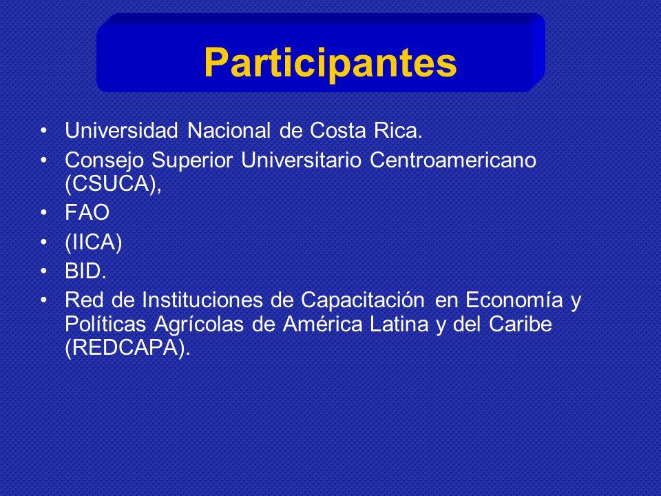 Participantes Universidad Nacional de Costa Rica.