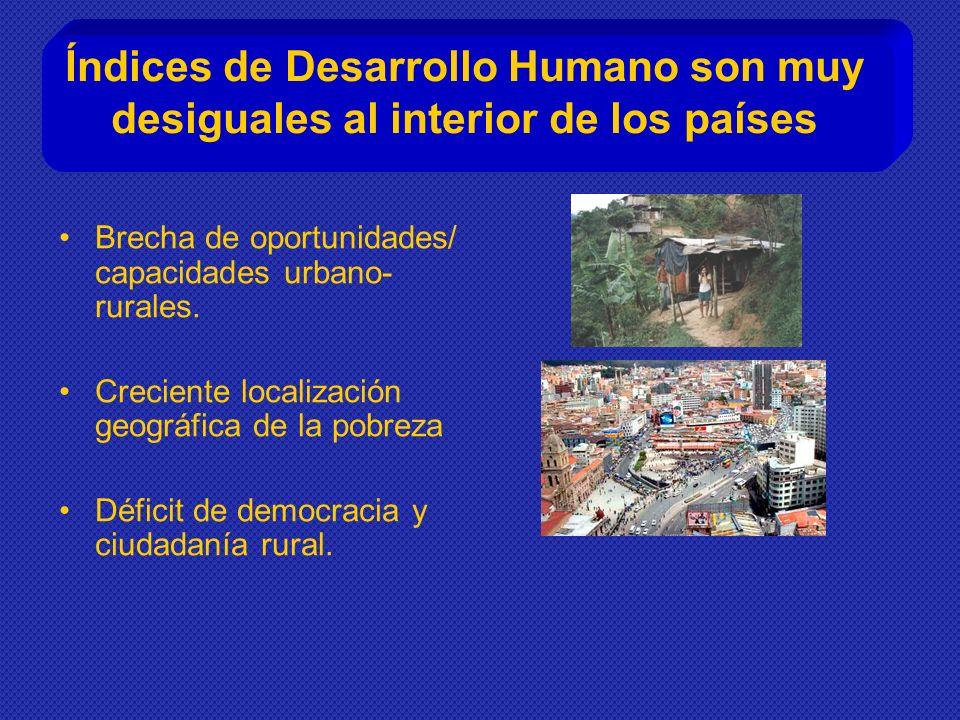 Índices de Desarrollo Humano son muy desiguales al interior de los países