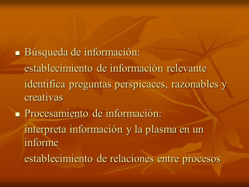 Búsqueda de información: