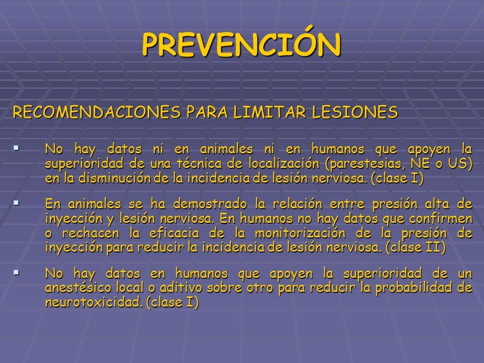 PREVENCIÓN RECOMENDACIONES PARA LIMITAR LESIONES