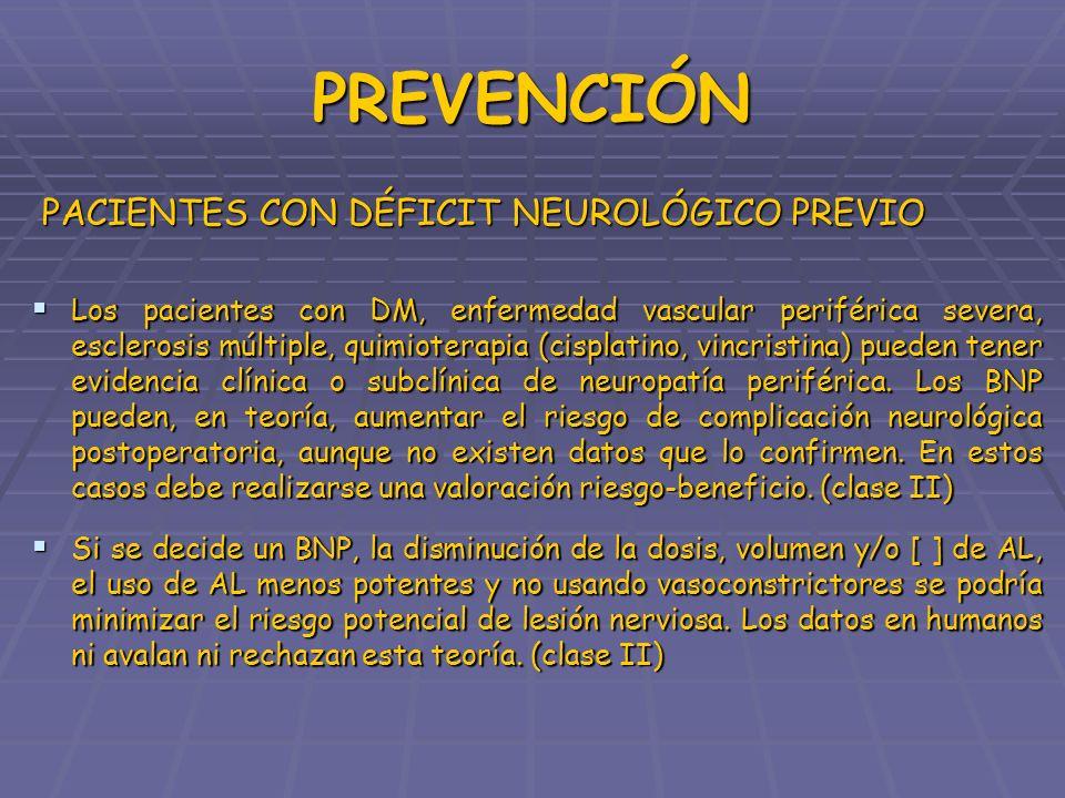 PREVENCIÓN PACIENTES CON DÉFICIT NEUROLÓGICO PREVIO