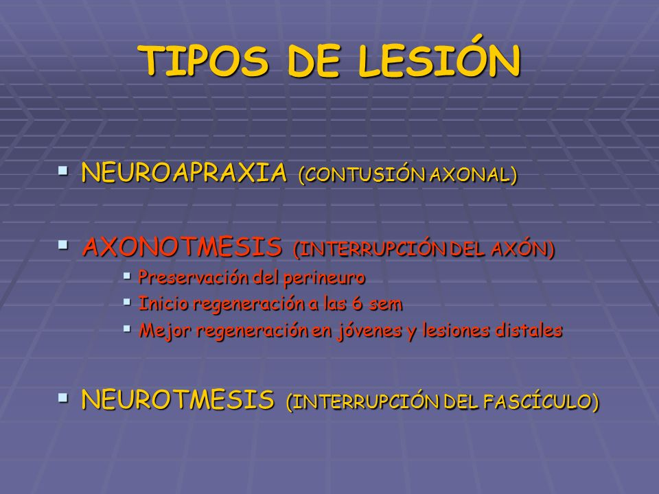 TIPOS DE LESIÓN NEUROAPRAXIA (CONTUSIÓN AXONAL)