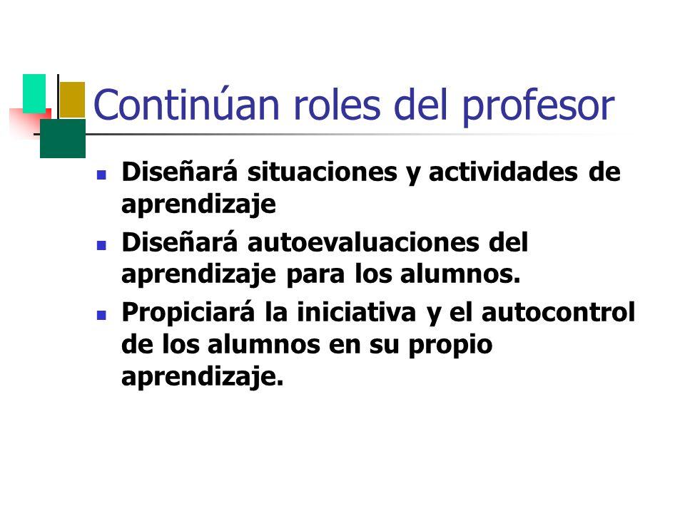 Continúan roles del profesor