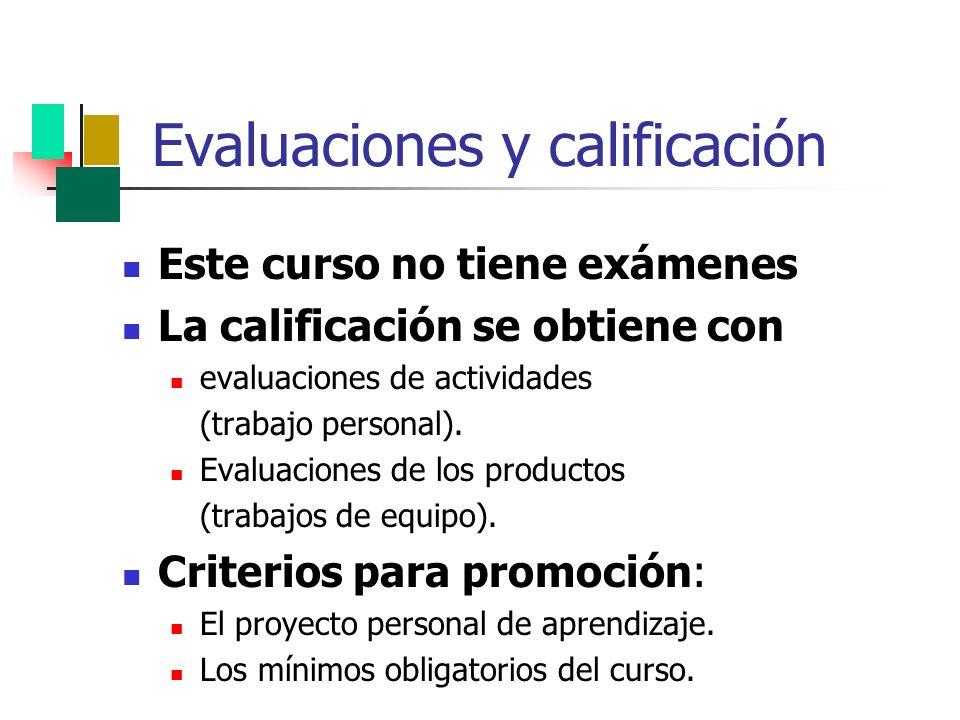 Evaluaciones y calificación