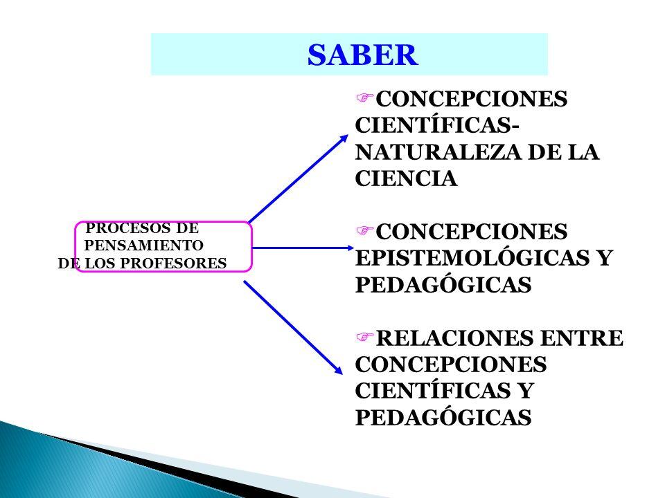 SABER CONCEPCIONES CIENTÍFICAS- NATURALEZA DE LA CIENCIA