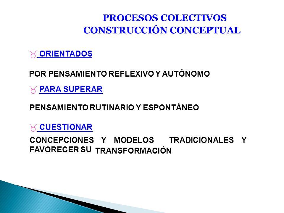 PROCESOS COLECTIVOS CONSTRUCCIÓN CONCEPTUAL