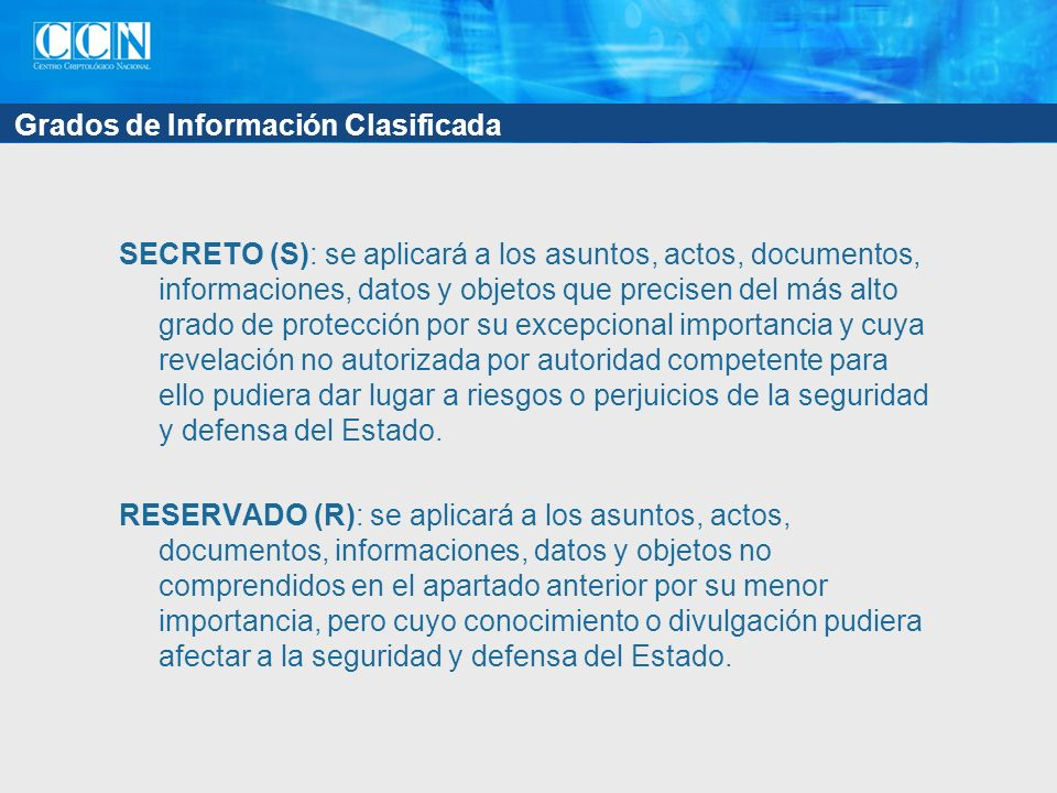 Grados de Información Clasificada