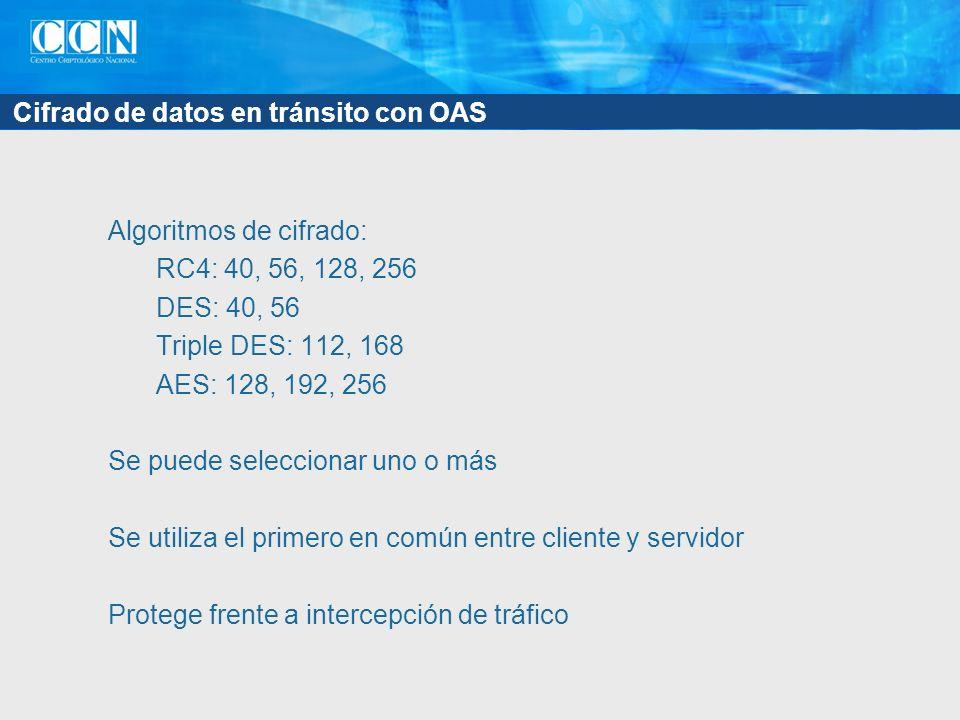 Cifrado de datos en tránsito con OAS